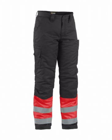 Blaklader 1862 Winter Trouser High Vis (Red/ Black)